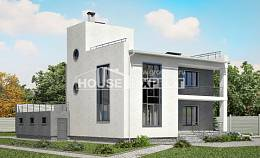 255-001-R Two Story House Plans with garage in back, big Blueprints of House Plans