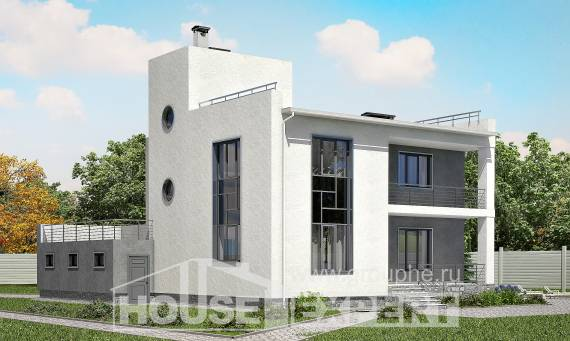 255-001-R Two Story House Plans with garage under, spacious Drawing House,
