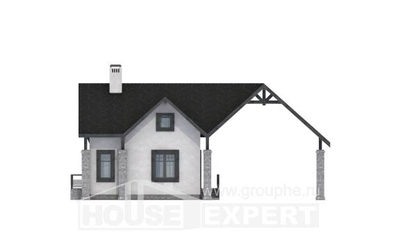 060-001-R Two Story House Plans with mansard roof and garage, modern Architects House, House Expert