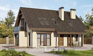 155-012-L Two Story House Plans with mansard roof, modern Online Floor