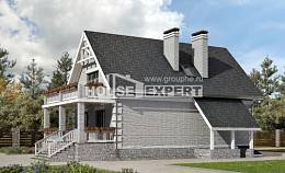 200-009-R Three Story House Plans with mansard roof with garage under, a simple Online Floor,