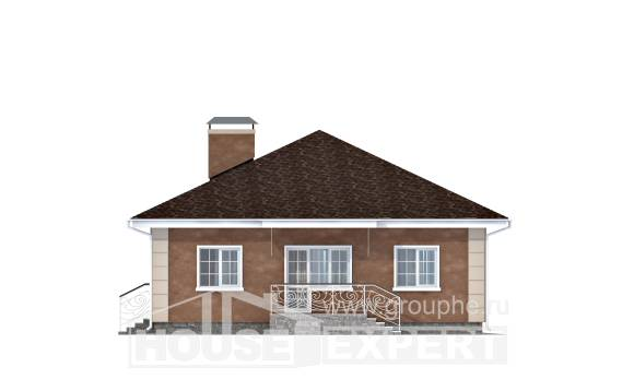100-001-L One Story House Plans, small Home House, House Expert