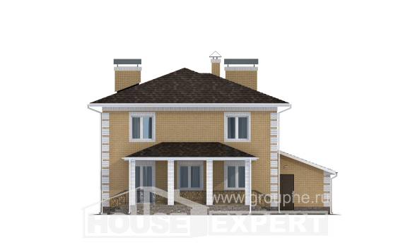 220-006-L Two Story House Plans with garage, luxury Ranch,
