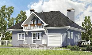 200-001-R Two Story House Plans with mansard with garage in front, luxury Plans To Build,