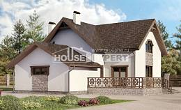 180-013-R Two Story House Plans with mansard roof with garage, inexpensive Plan Online,