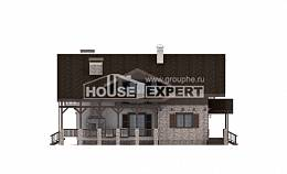 250-003-R Two Story House Plans with mansard roof, cozy Dream Plan, House Expert