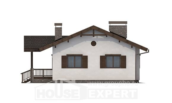 090-002-R One Story House Plans, compact Architectural Plans,