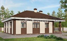 160-015-R One Story House Plans and garage, inexpensive House Plans,