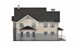 300-004-R Two Story House Plans, big Home Blueprints,