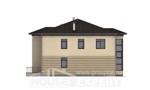 300-006-R Two Story House Plans with garage, a huge Building Plan,