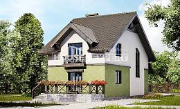 120-003-R Two Story House Plans, the budget Custom Home,