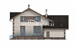 245-005-R Two Story House Plans with mansard roof with garage under, best house Home Plans, House Expert