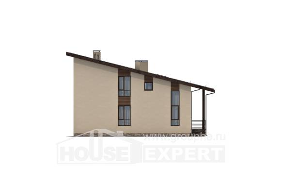 140-005-L Two Story House Plans and mansard, a simple Construction Plans,
