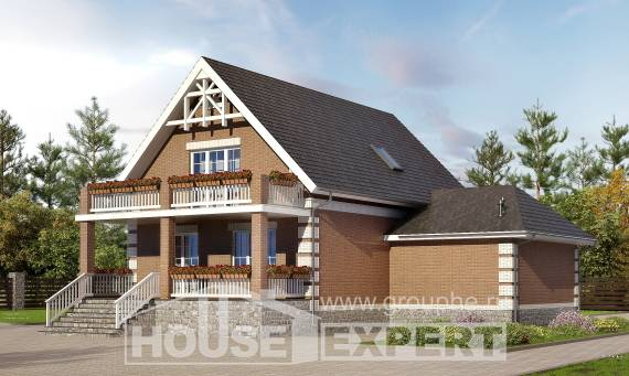 200-009-L Three Story House Plans and mansard with garage, spacious House Plans