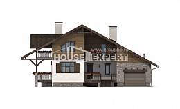 220-005-R Two Story House Plans with garage in back, spacious Architectural Plans,