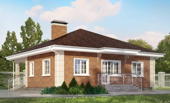 100-001-L One Story House Plans, modest Dream Plan,