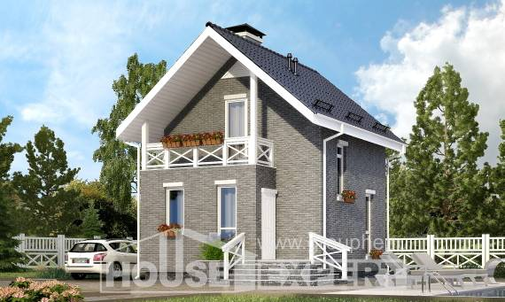 045-001-R Two Story House Plans with mansard roof, tiddly Drawing House,