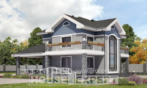 200-006-L Two Story House Plans, luxury Cottages Plans, House Expert