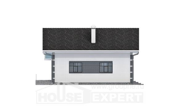 180-001-R Two Story House Plans and mansard with garage under, the budget House Building,