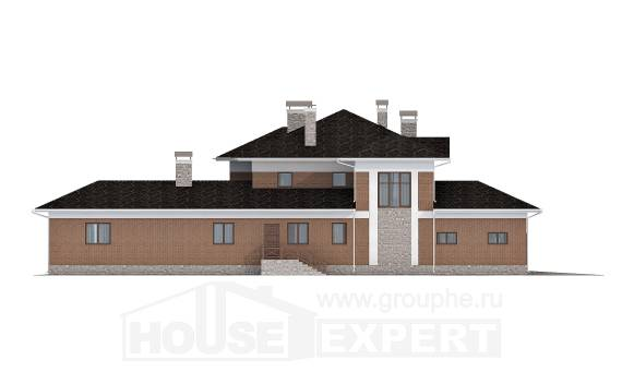 520-002-L Three Story House Plans and garage, a huge Floor Plan