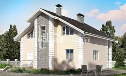 150-002-R Two Story House Plans with mansard roof with garage, classic Home Plans