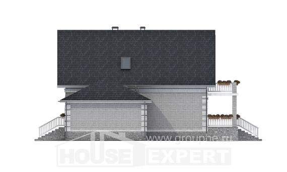 200-009-R Three Story House Plans with mansard roof with garage, modern Home Blueprints,