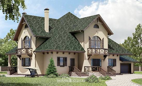 350-001-R Two Story House Plans with mansard roof with garage in front, spacious House Planes, House Expert