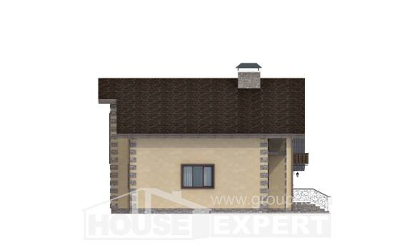 150-003-R Two Story House Plans with garage under, small Models Plans, House Expert