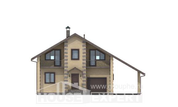 150-003-R Two Story House Plans with garage in back, small Plans To Build, House Expert