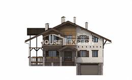 400-004-R Three Story House Plans with mansard roof with garage in back, luxury Planning And Design,