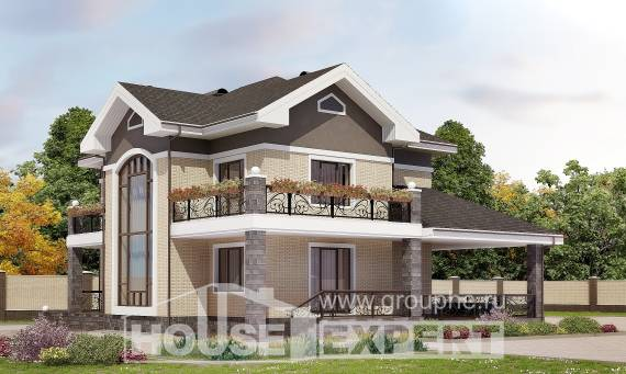 200-006-R Two Story House Plans, cozy Online Floor, House Expert