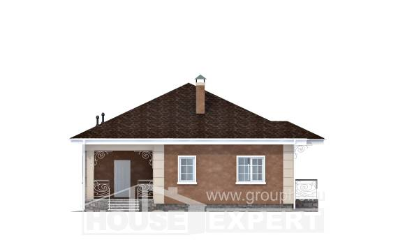 100-001-L One Story House Plans, compact Design House, House Expert