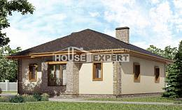 130-006-L One Story House Plans with garage in back, compact Construction Plans,