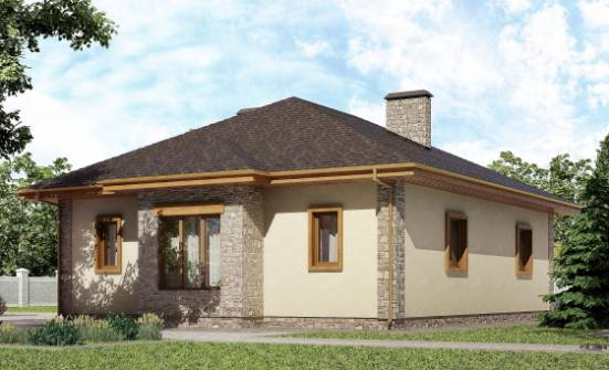 130-006-L One Story House Plans with garage in front, beautiful Architectural Plans, House Expert