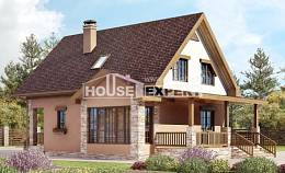 140-002-R Two Story House Plans with mansard roof, a simple Home Plans, House Expert