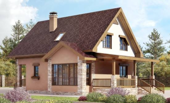 140-002-R Two Story House Plans with mansard roof, the budget Construction Plans, House Expert