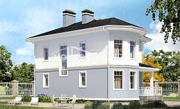 120-001-R Two Story House Plans, classic Timber Frame Houses Plans