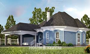 180-007-L Two Story House Plans and mansard with garage, a simple House Plans