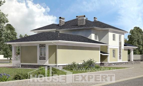 620-001-L Three Story House Plans with garage, classic Design Blueprints,