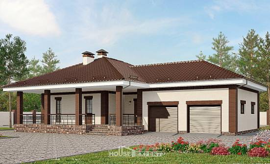 160-015-R One Story House Plans with garage in front, best house Architectural Plans,
