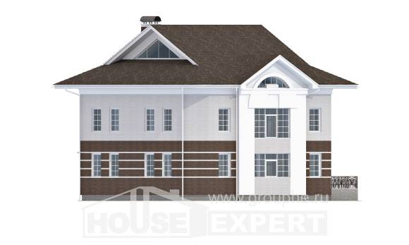 410-001-R Two Story House Plans with garage in back, cozy Custom Home Plans Online,