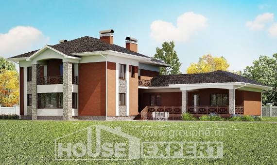 400-002-L Two Story House Plans with garage under, spacious Design House