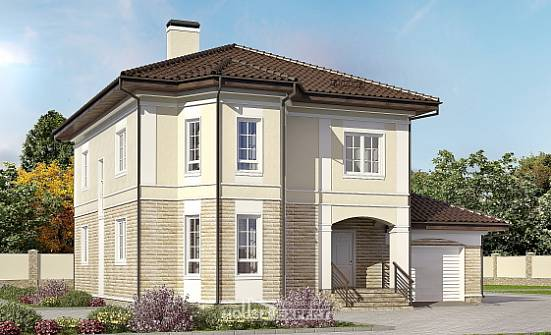 220-007-R Two Story House Plans with garage under, beautiful Planning And Design,