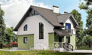 120-003-R Two Story House Plans, modern Building Plan,