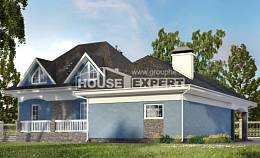 180-007-L Two Story House Plans and mansard with garage under, the budget Plans Free,
