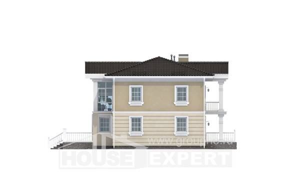 210-005-L Two Story House Plans, modern Drawing House,