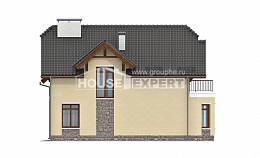 255-003-R Two Story House Plans with mansard with garage, cozy Design House,