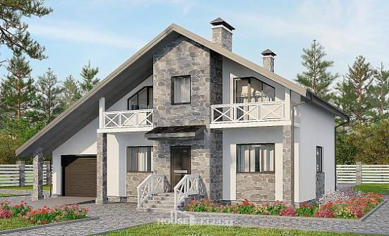 180-017-L Two Story House Plans and mansard and garage, classic Cottages Plans,