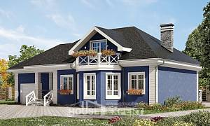 180-010-L Two Story House Plans with mansard roof with garage, best house Tiny House Plans