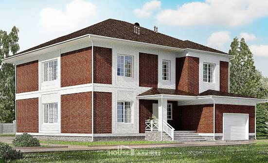 315-001-R Two Story House Plans with garage in front, beautiful Building Plan,